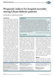 Prognostic indices for hospital mortality among Libyan - ResearchGate