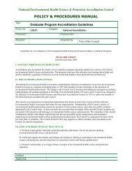 Graduate Program Accreditation Guidelines - National ...