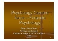 Forensic Psychology - Online.psychol.ucl.ac.uk