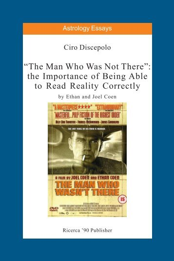 The Man Who Was Not There by Ethan and Joel ... - cirodiscepolo.it