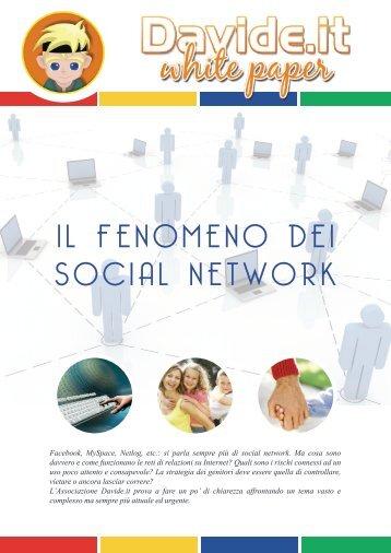 IL FENOMENO DEI SOCIAL NETWORK - Davide.it
