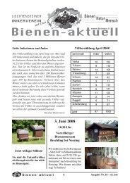 3. Juni 2008 - Liechtensteiner Imkerverein