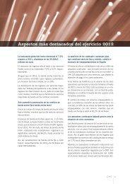 Aspectos más destacados - Informe económico sectorial