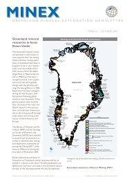 Greenland Minex News no. 21, October 2001 - Geus