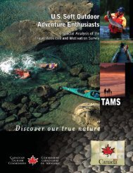 3. US Soft Outdoor Adventure Enthusiasts - Canadian Tourism ...