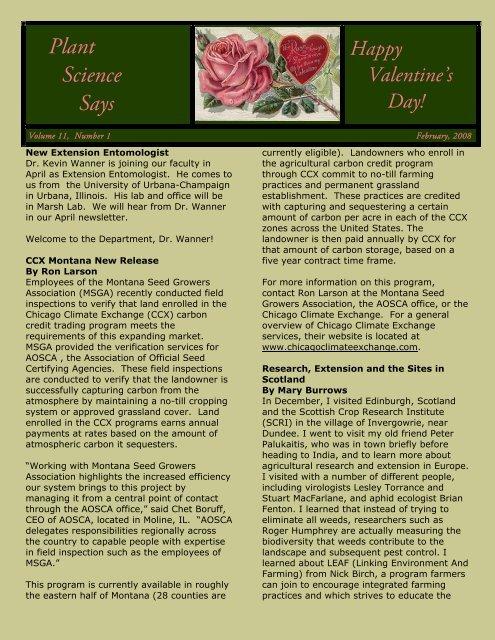 Plant Science Says - Department of Plant Sciences & Plant ...