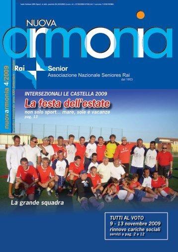 Armonia quarto numero anno 2009.