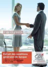 CA_tarifs ENTREPRISES OK - Crédit Agricole Sud Rhône Alpes