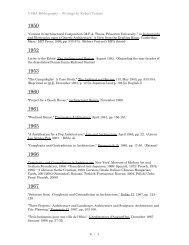 VSBA Bibliography – Writings by Robert Venturi - Denise Scott Brown