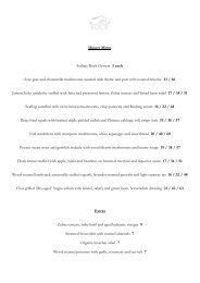 Dinner Menu Sydney Rock Oysters 3 each Foie gras ... - Out4dinner