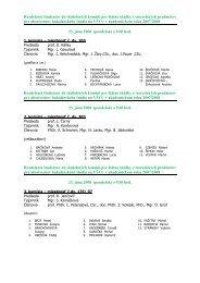 Zoznam absolventov bakalárskeho štúdia zaradených na štátne ...