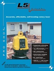 Laser Reference L5 Series Brochure - Leica Geosystems