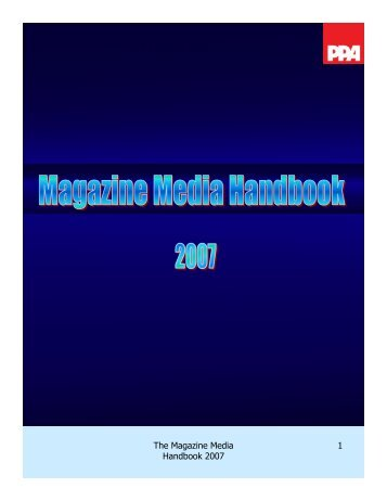 The Magazine Media Handbook 2007 1 - Interactive Digital Media