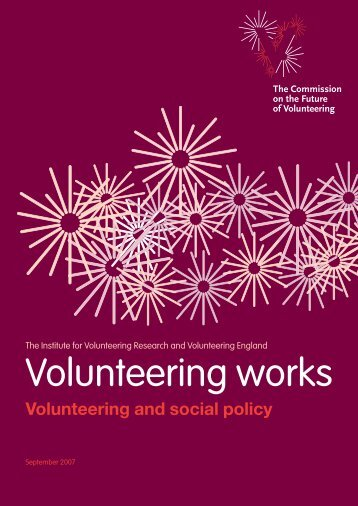 Volunteering works - Valuenetwork.org.uk