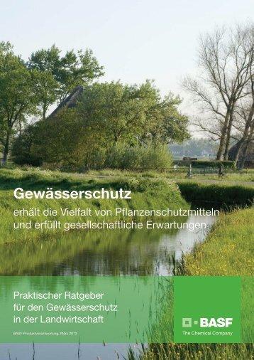 Broschüre Gewässerschutz - BASF Pflanzenschutz Österreich