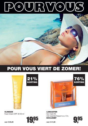 Pour Vous Viert de zomer! - Drogisterij Parfumerie Meindersma