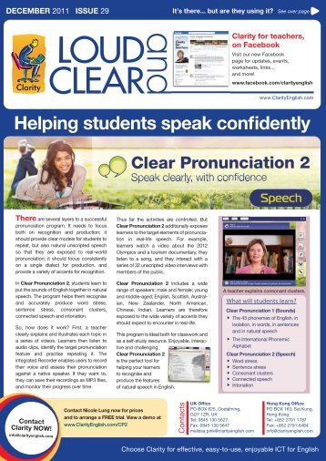 Helping students speak confidently - Clarity English language ...