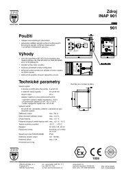Použití Výhody Technické parametry Zdroj INAP 901 ... - MaR TRADE