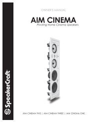 AIM Cinema Manual - SpeakerCraft