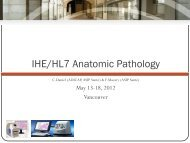Anatomic Pathology Structured Reports - IHE Wiki
