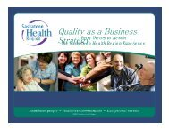 Quality as a Business Strategy Strategy - Health Care Quality Summit