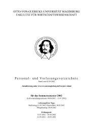 Sommersemester 2002 - Fakultät für Wirtschaftswissenschaft - Otto ...