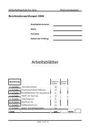 2006 M RW Arb - Wirtschaftsschule KV Chur