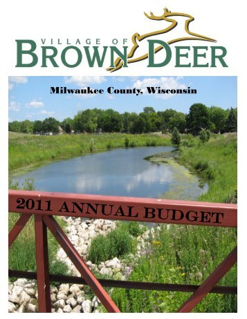 2011 budget cover - Village of Brown Deer