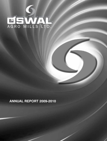 Oaml Annual Report Year 2009-2010 - Oswalagromills.com