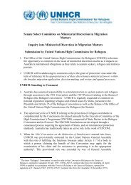 Inquiry into Ministerial Discretion in Migration Matters - unhcr