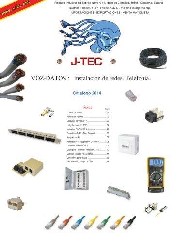 VOZ-DATOS : Instalacion de redes. Telefonia. - J-TEC
