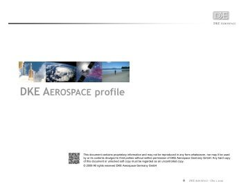 DKE Aerospace Profile - Luxembourg Space Cluster