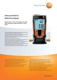 Vacuomètre électronique - Testo