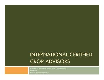 international certified crop advisors - Certified Crop Adviser