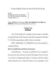 Board of Bar Examiners of the Delaware Supreme Court Rule 10