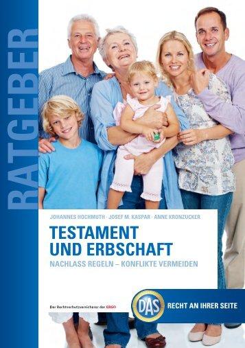 """Ratgeber """"Testament und Erbschaft"""" - Fiducia IT AG"""