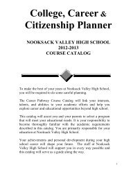 graduation requirements - Nooksack Valley School District