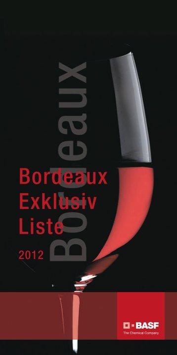 Bordeaux Exklusiv Liste - Basf