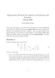 Optimization Methods for Logistics of Production and Inventory ...