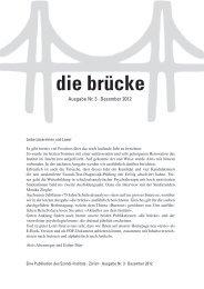die brücke – Ausgabe Nr. 3 – Dezember 2012 - Szondi-Institut