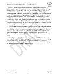 Solar Lab – Photovoltaic Array Survey and Performance ...