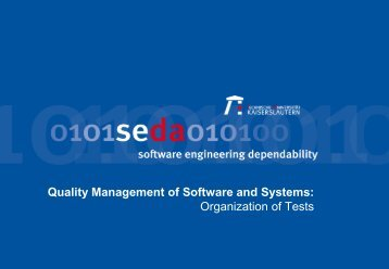 Organization of Quality Assurance and Quality Management