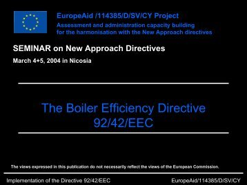 The Boiler Efficiency Directive 92/42/EEC