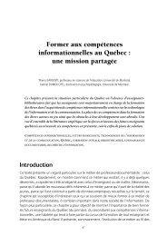 Former aux compétences informationnelles au ... - Thierry Karsenti