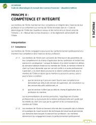 II. Compétence et intégrité - Ontario College of Social Workers and ...