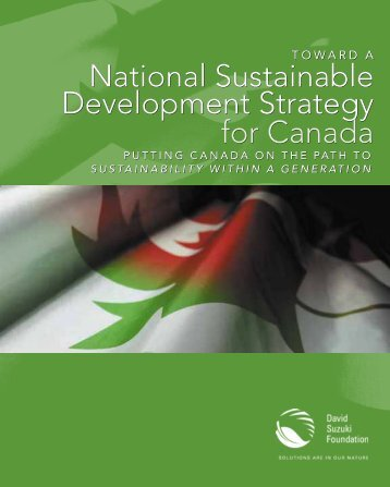 Toward a National Sustainable Development Strategy for Canada