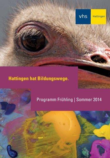 Frühjahrs-/Sommerprogramm - vhs Hattingen