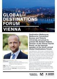 GLOBAL DESTINATIONS FORUM VIENNA - Destination Melbourne