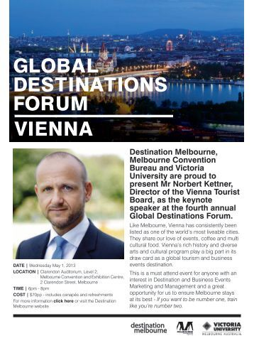 GLOBAL DESTINATIONS FORUM VIENNA - Destination Melbourne