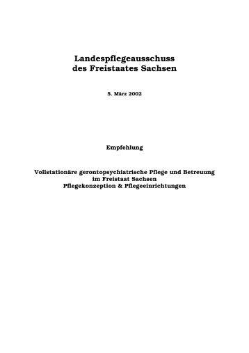 Landespflegeausschuss des Freistaates Sachsen - Familie ...